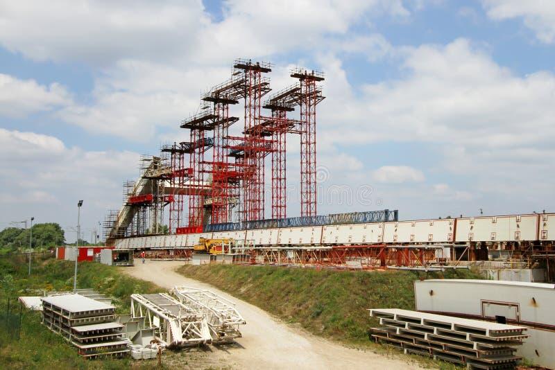 Passerelle en construction photographie stock