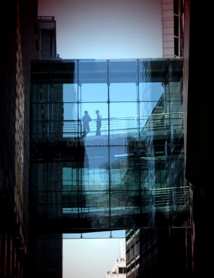 Passerelle en verre 2 photos libres de droits