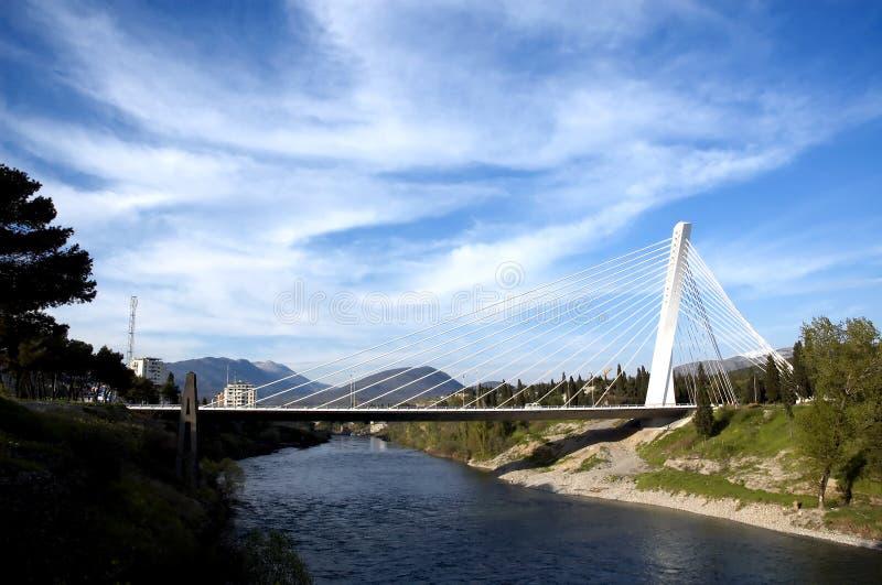 Passerelle et fleuve images libres de droits