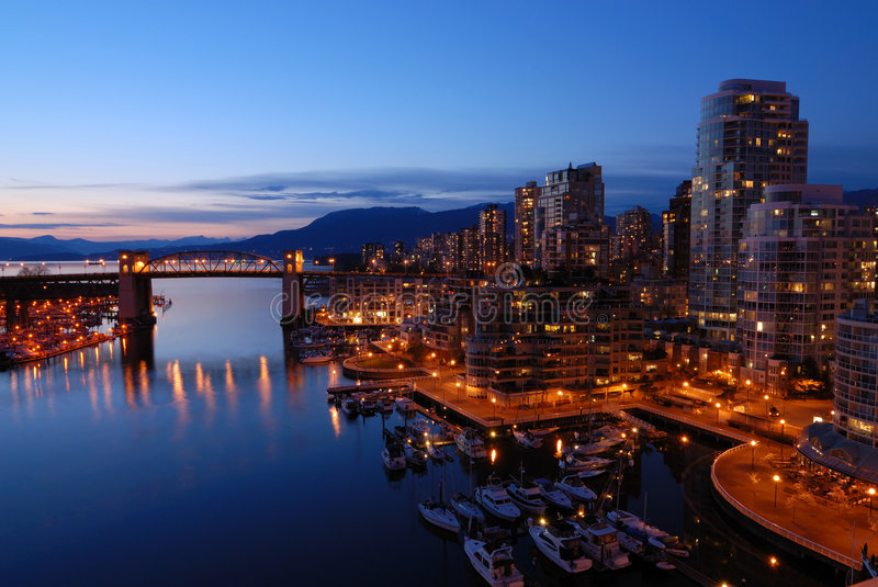 Passerelle historique de Burrard de Vancouver photos libres de droits