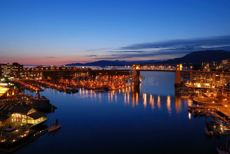 Passerelle historique de Burrard de Vancouver image stock