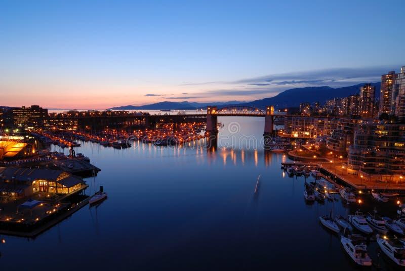 Passerelle historique de Burrard de Vancouver images stock