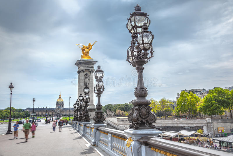 passerelle III Paris d'Alexandre photographie stock libre de droits