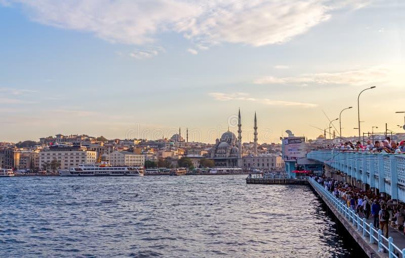 Passerelle Istanbul de Galata images libres de droits