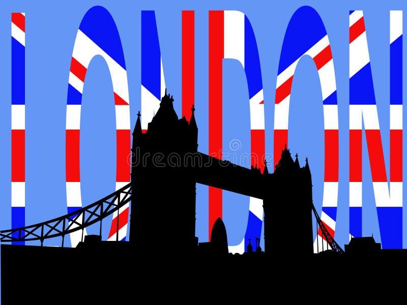 Passerelle Londres de tour illustration de vecteur