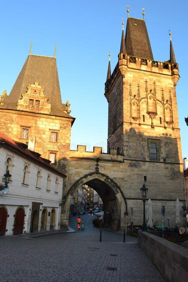Passerelle Prague de Charles photo stock