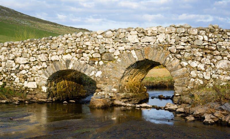 Passerelle tranquille d'homme, Irlande photo stock