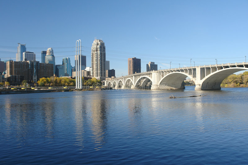 Passerelle vers Minneapolis photo stock