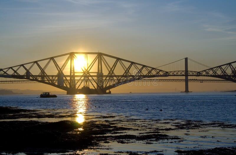 Passerelles au coucher du soleil photos libres de droits
