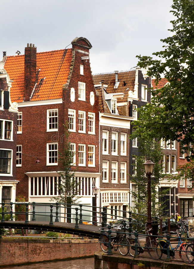 Passerelles d'Amsterdam photographie stock