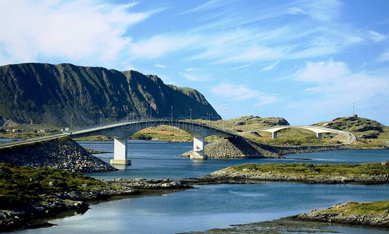Passerelles de la Norvège photographie stock libre de droits