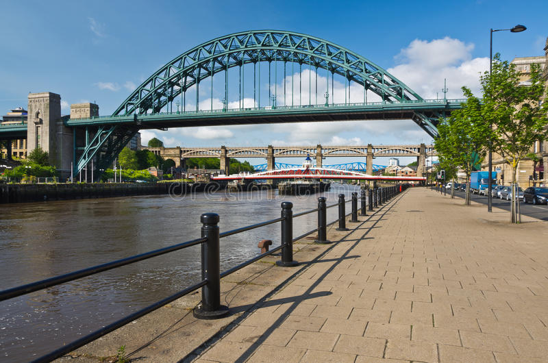 Passerelles de Tyne à Newcastle image libre de droits