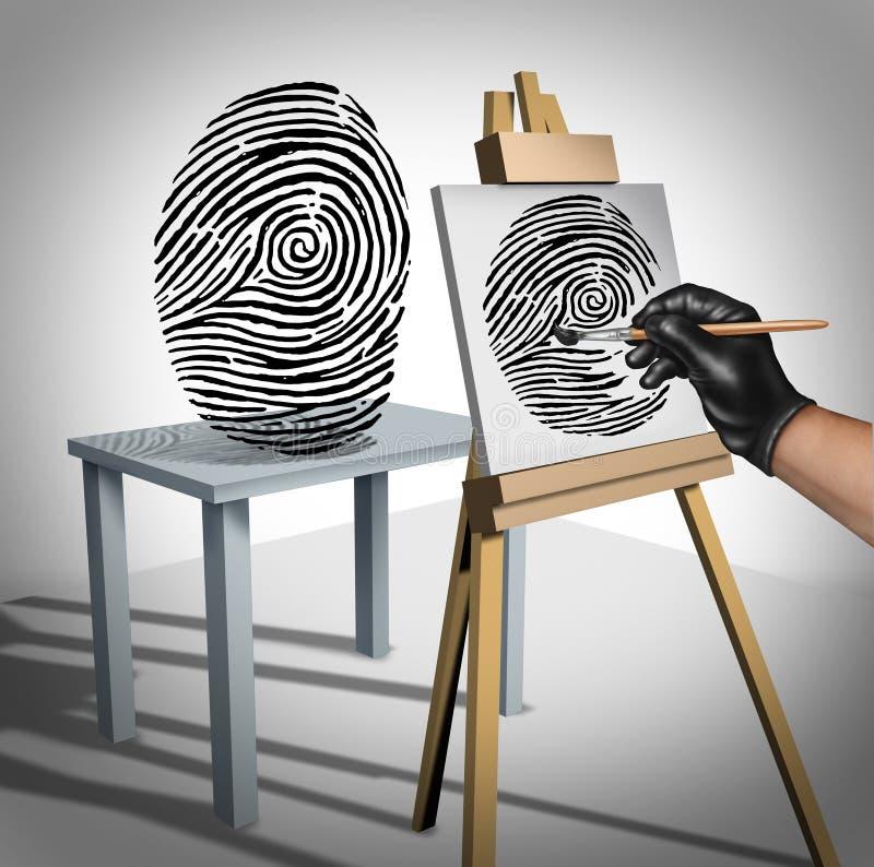 passet för dräkten för pengar för inbrottstjuvbegreppsidentiteten staplar omgivet stöldslitage vektor illustrationer