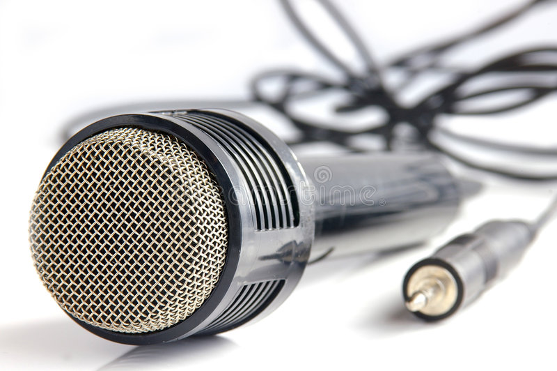 Passez le microphone photo libre de droits