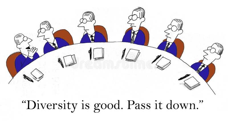 Passez-le vers le bas que la diversité est bonne illustration stock