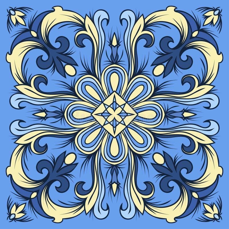 Passi il modello delle mattonelle del disegno nei colori - Cavaliere modello a colori ...