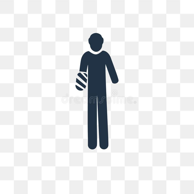 Passi l'icona di vettore di incidente isolata su fondo trasparente, ha royalty illustrazione gratis