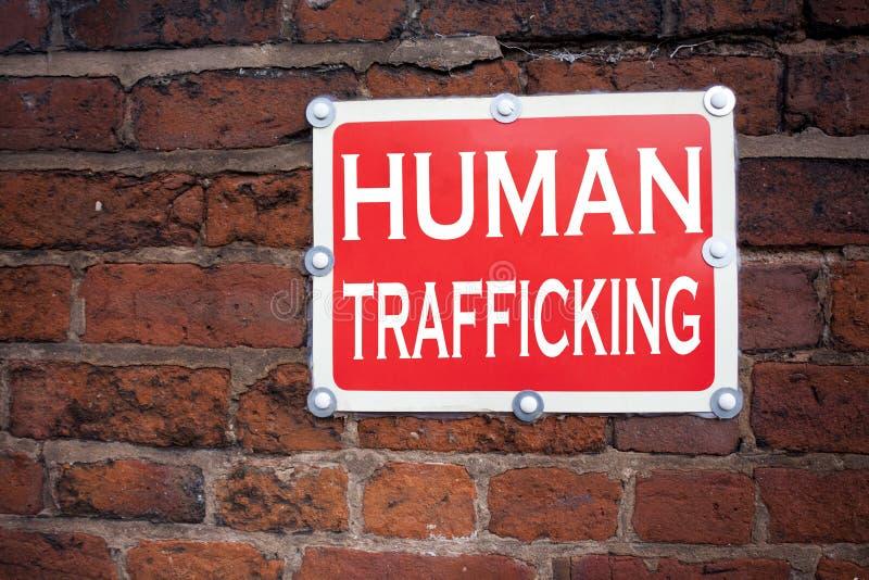 Passi l'ispirazione di titolo del testo di scrittura che mostra la prevenzione di crimine di traffico umana di schiavitù di signi immagine stock