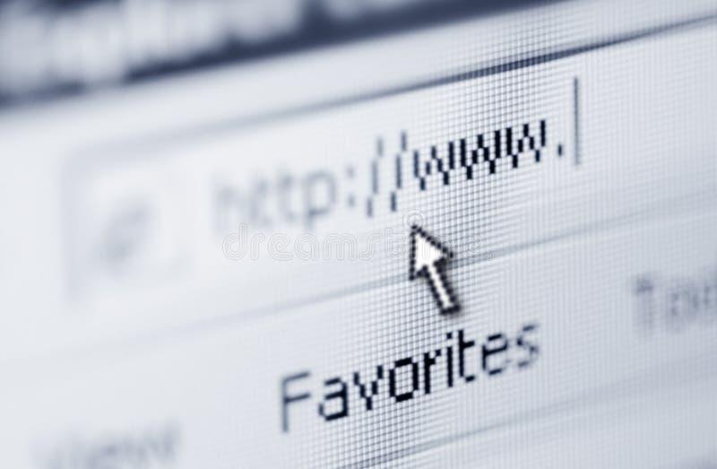 Passi in rassegna il Internet immagine stock libera da diritti