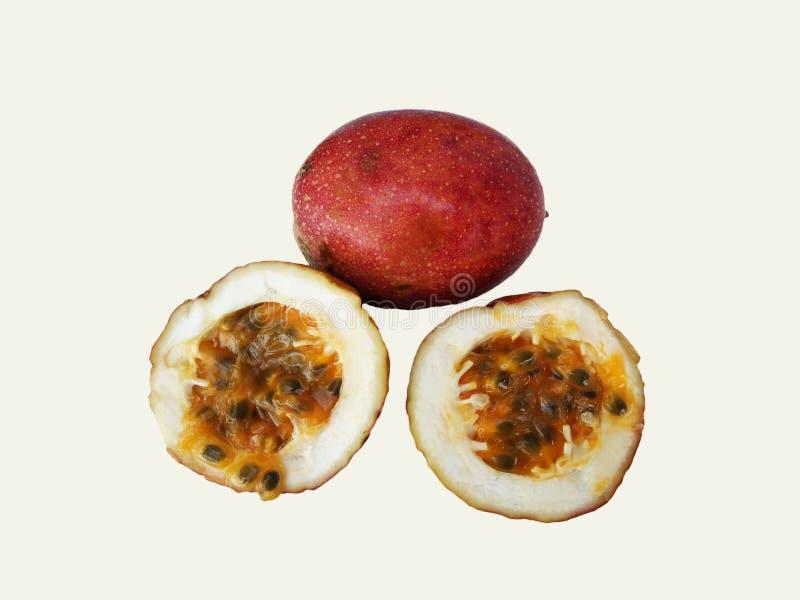 Passiflore comestible de passiflore sur le fond blanc photo libre de droits