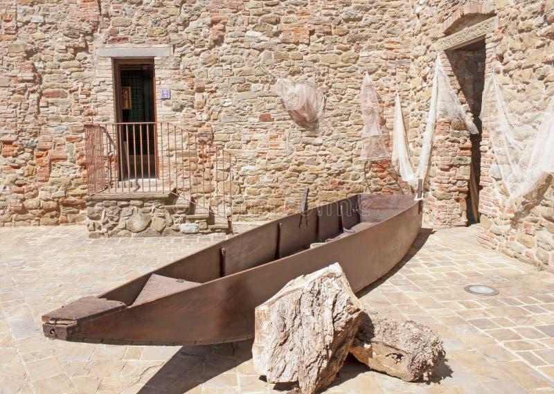 Passignano sul Trasimeno, Umbria, Włochy obraz stock