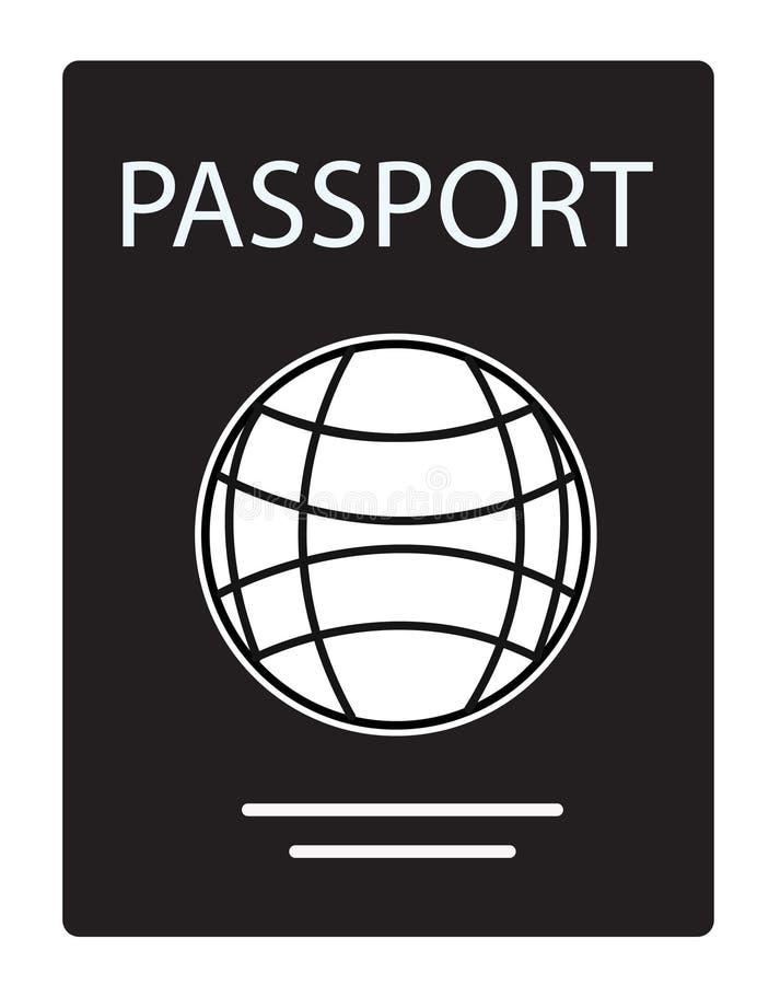 Passikone auf weißem Hintergrund Passzeichen Flache Art vektor abbildung