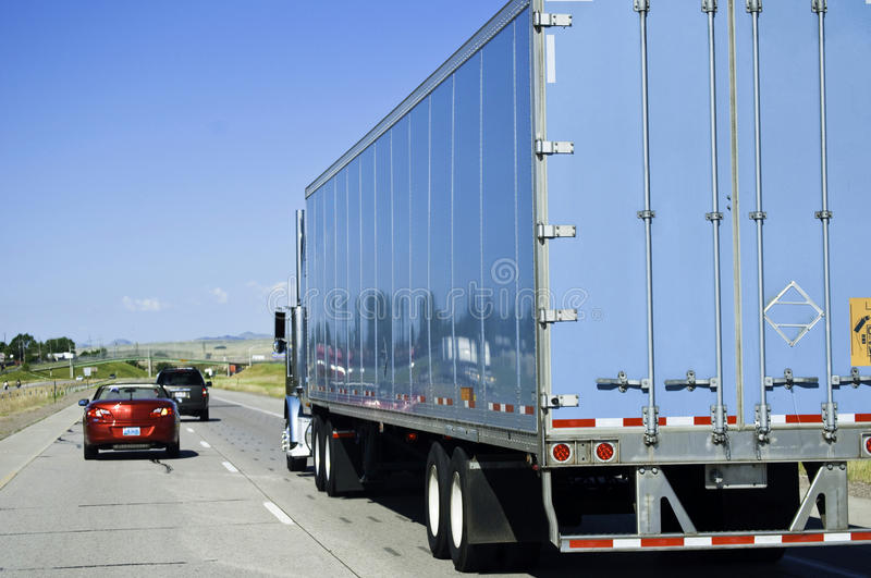 Download Passing a big truck stock image. Image of transportation - 10336755