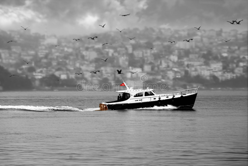 Passing the Bosphorus stock images