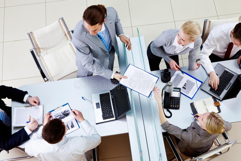 Download Passing document stock image. Image of discuss, male - 16884675