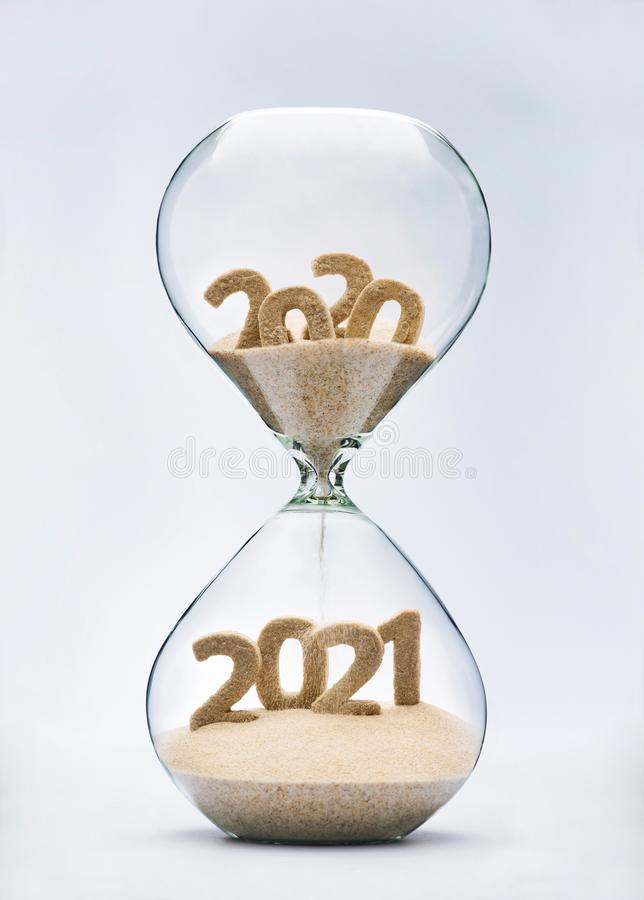 Passing into New Year 2021 stock photos