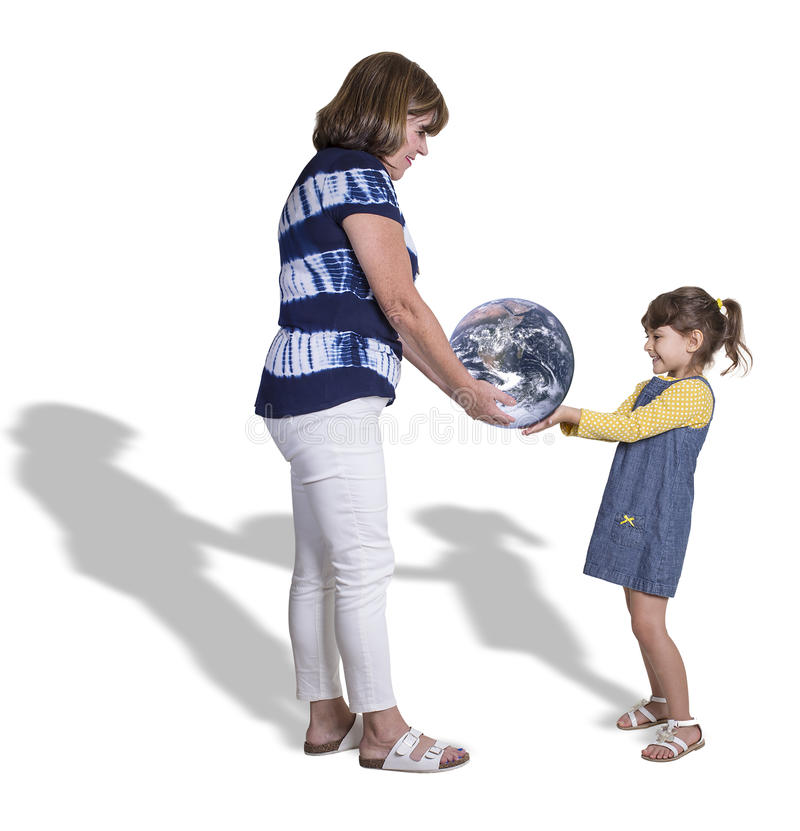 Passing The Planet, From One Generation To The Next royalty free stock images