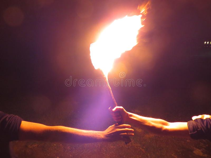 Passing the Torch stock photos