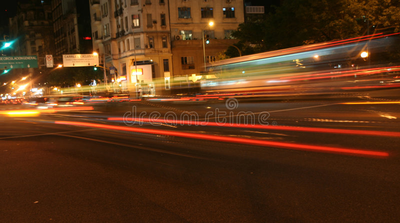 Download Passing Traffic, Blurred Taillights Stock Image - Image: 1704357