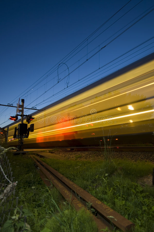 Download Passing Train stock photo. Image of motion, blue, signal - 2599244