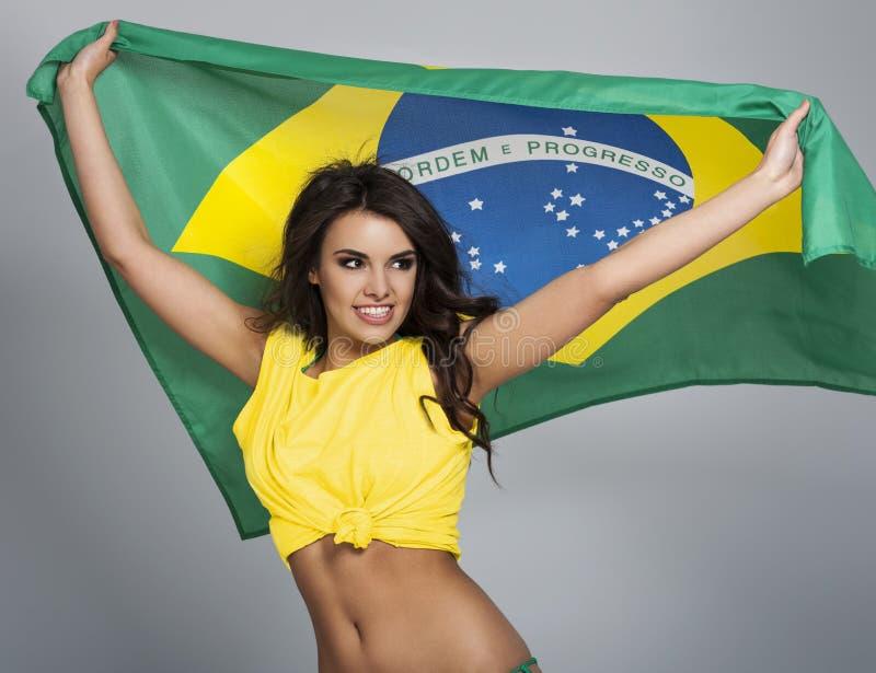 Passioné du football brésilien photo stock