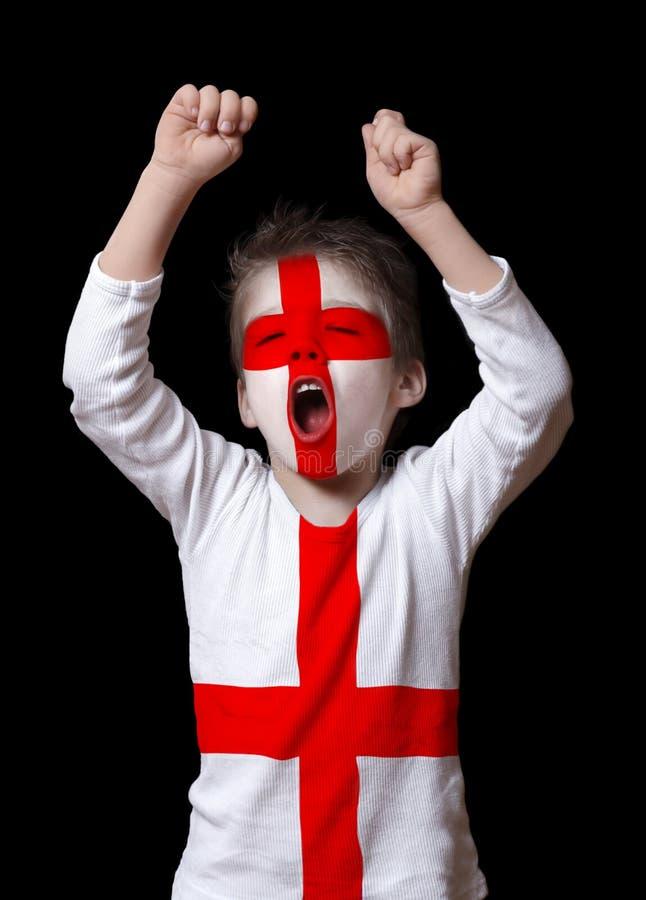 Passioné du football de l'Angleterre image libre de droits