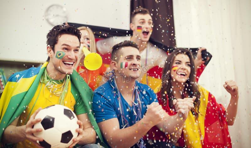 Passionés du football photos stock