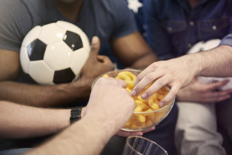 Passionés du football image libre de droits