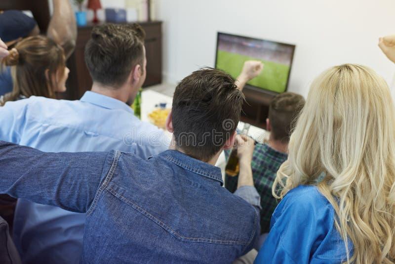 Passionés du football image stock