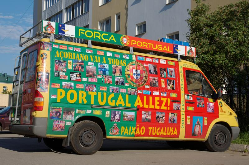 Passionés du football portugais photos stock