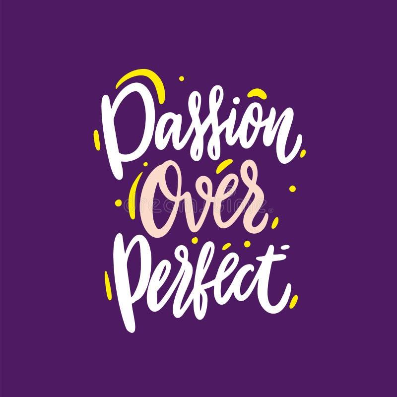 Passion över bokstäver för vektor för perfekt ordhand utdragen Modern borstekalligrafi också vektor för coreldrawillustration royaltyfri illustrationer