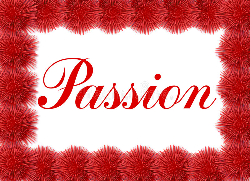 Passion Card With Red Flowers Stock Photos