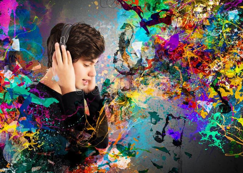Passion colorée de musique image libre de droits