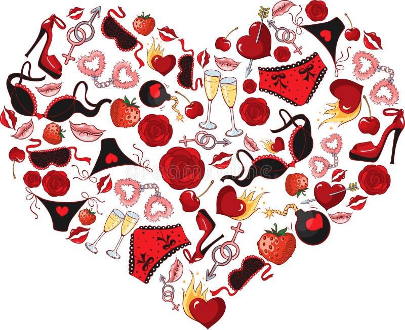 Passion de coeur illustration libre de droits