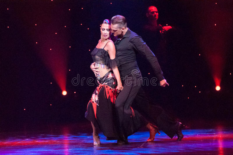 Passion de tango photographie stock