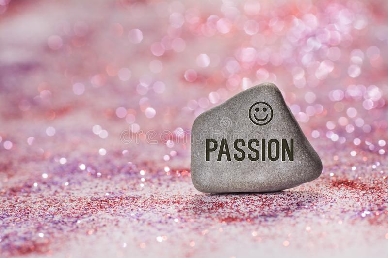 Passion engrave on stone royalty free stock photo