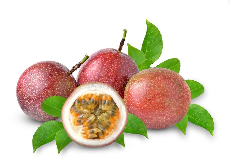 Passion fruit isolated on white background royalty free stock images
