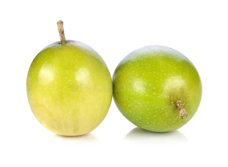 Passion fruit. Isolated on white background stock images