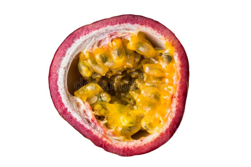Passion fruit isolated on the white background royalty free stock images