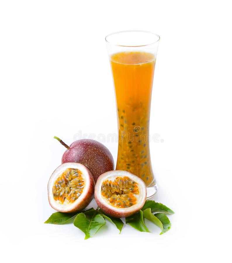 Passion fruit juice stock images